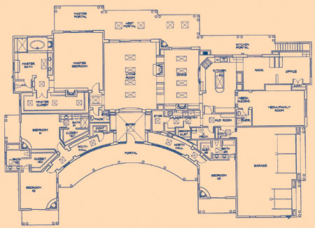 Floorplan of santa fe custom home by fine homes inc for Santa fe floor plans